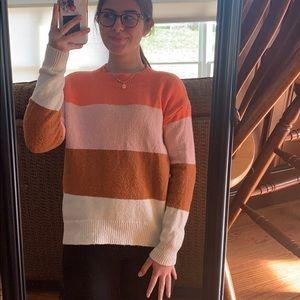Color block sweater